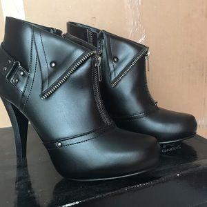 Black Booties with Heel